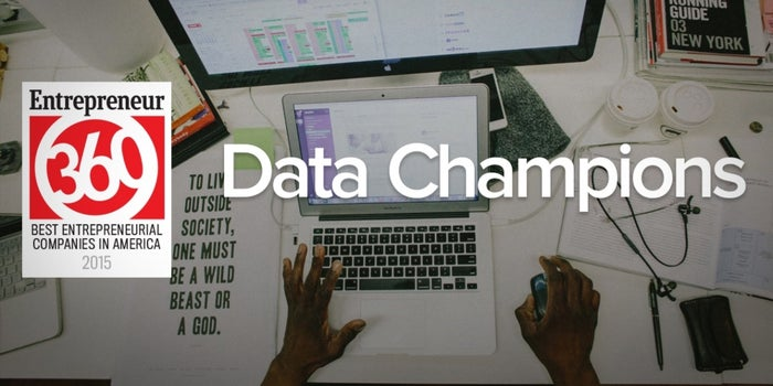 For Entrepreneur360 'Data Champions,' Success Is Steady, Plotted and Planned