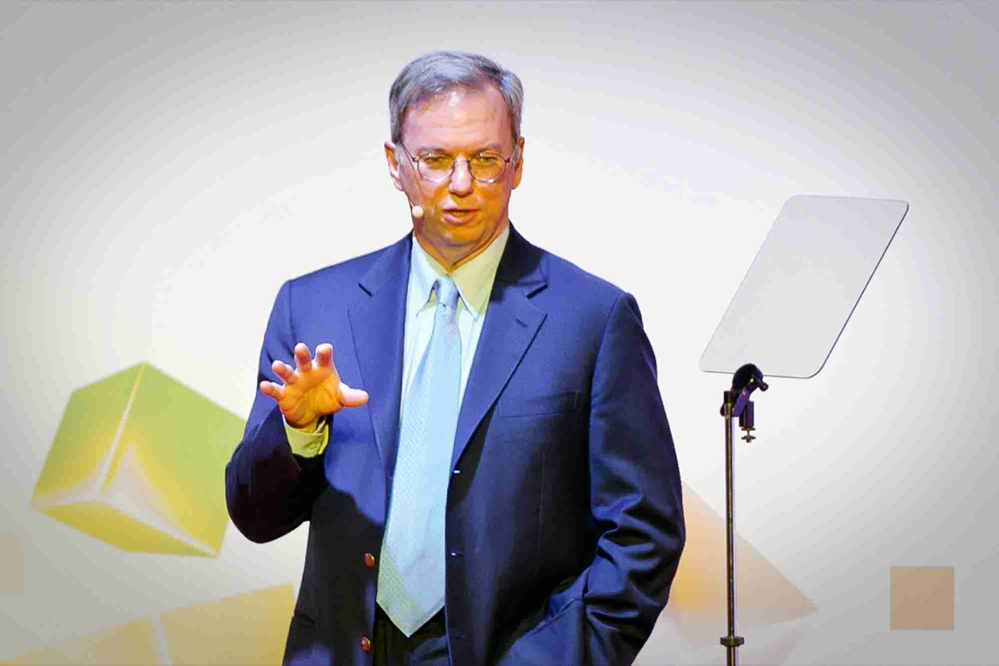 Alphabet's Eric Schmidt: Gmail Is 'Far More Secure' Than Government Systems
