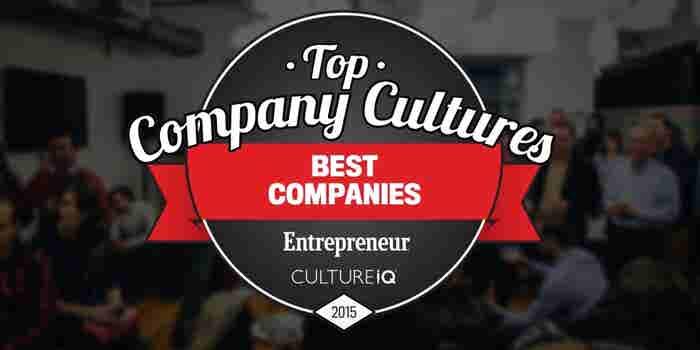 Entrepreneur and CultureIQ Present the Top Company Cultures List