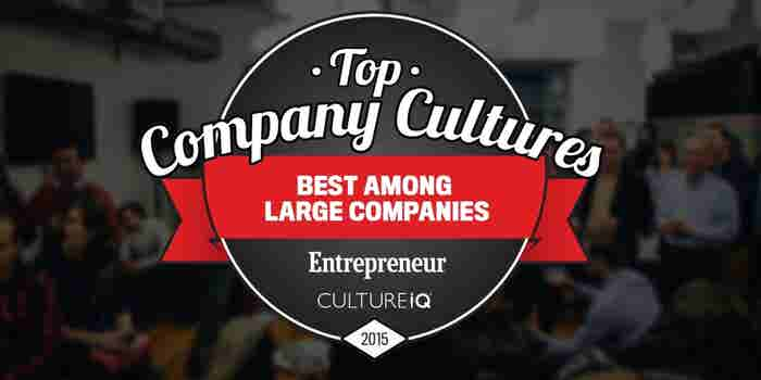The 25 Best Large-Company Cultures in 2015