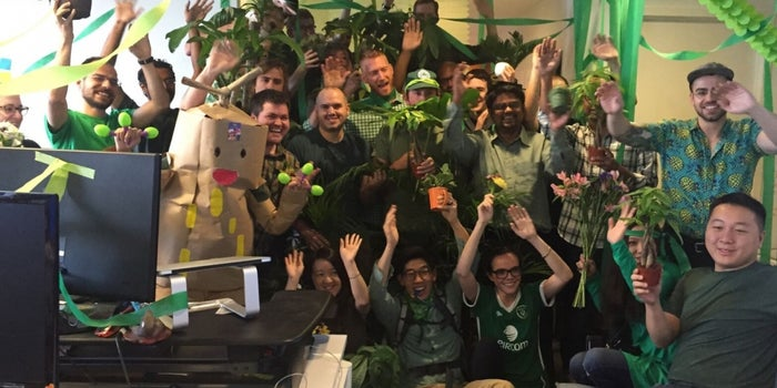 Late to a Meeting? On This Team, You Have to Pay Up With an Office Plant.