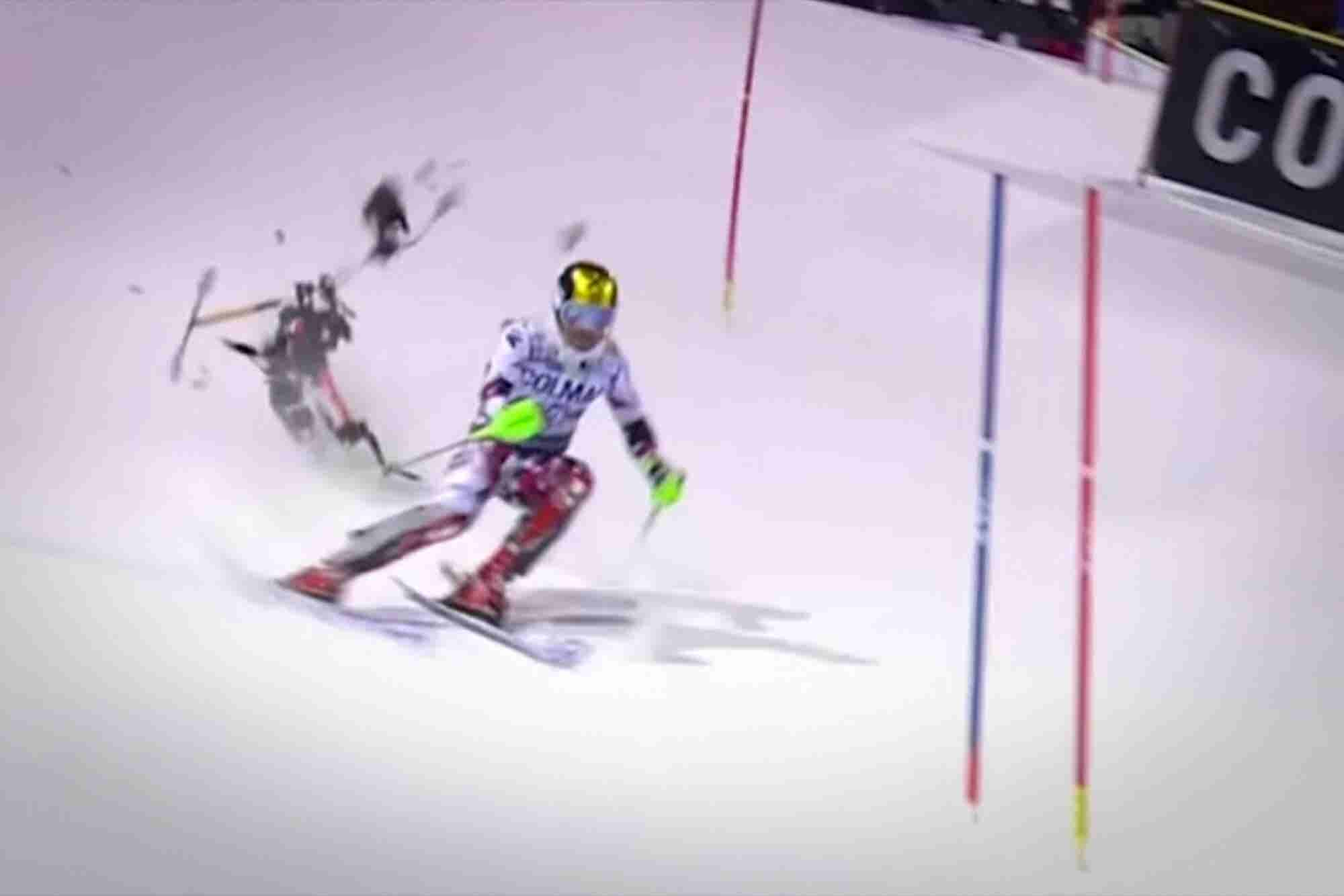 Drone Crashing From the Sky Misses World Champion Skier By a Sliver, Prompting Ban