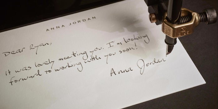 with this startup a handwritten thank you note is a click away