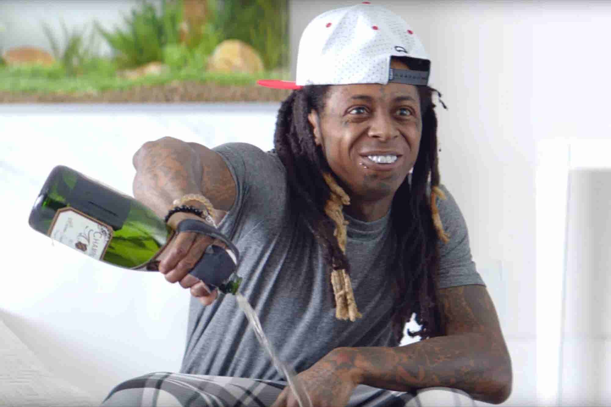 Brain Break: Watch Lil Wayne Bathe Samsung's New Galaxy S7 in Champagne