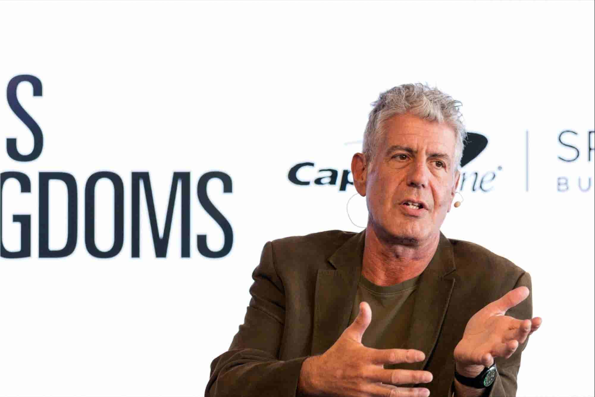 At SXSW - Anthony Bourdain's Advice for Entrepreneurs: Don't Suck, Be Fake or Be Boring