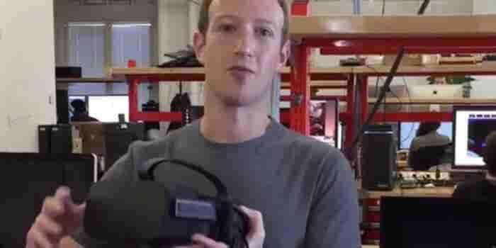 Watch Mark Zuckerberg Unbox an Oculus Rift