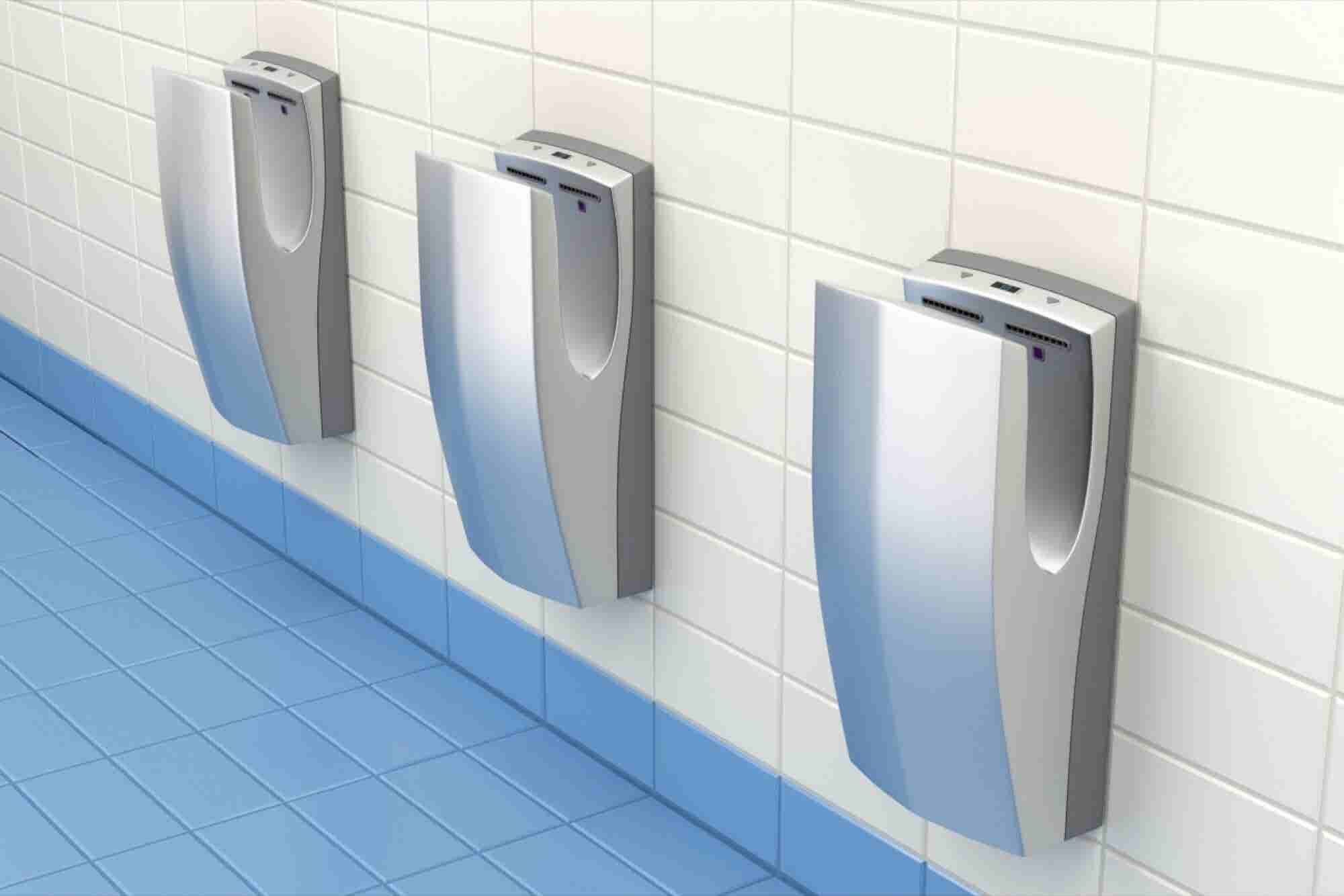 Study Says Jet-Drying Technology Spreads Infectious Agents Further Than Paper Towels