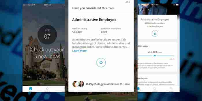 LinkedIn Wants College Students to 'Swipe' Through Their Career Exploration