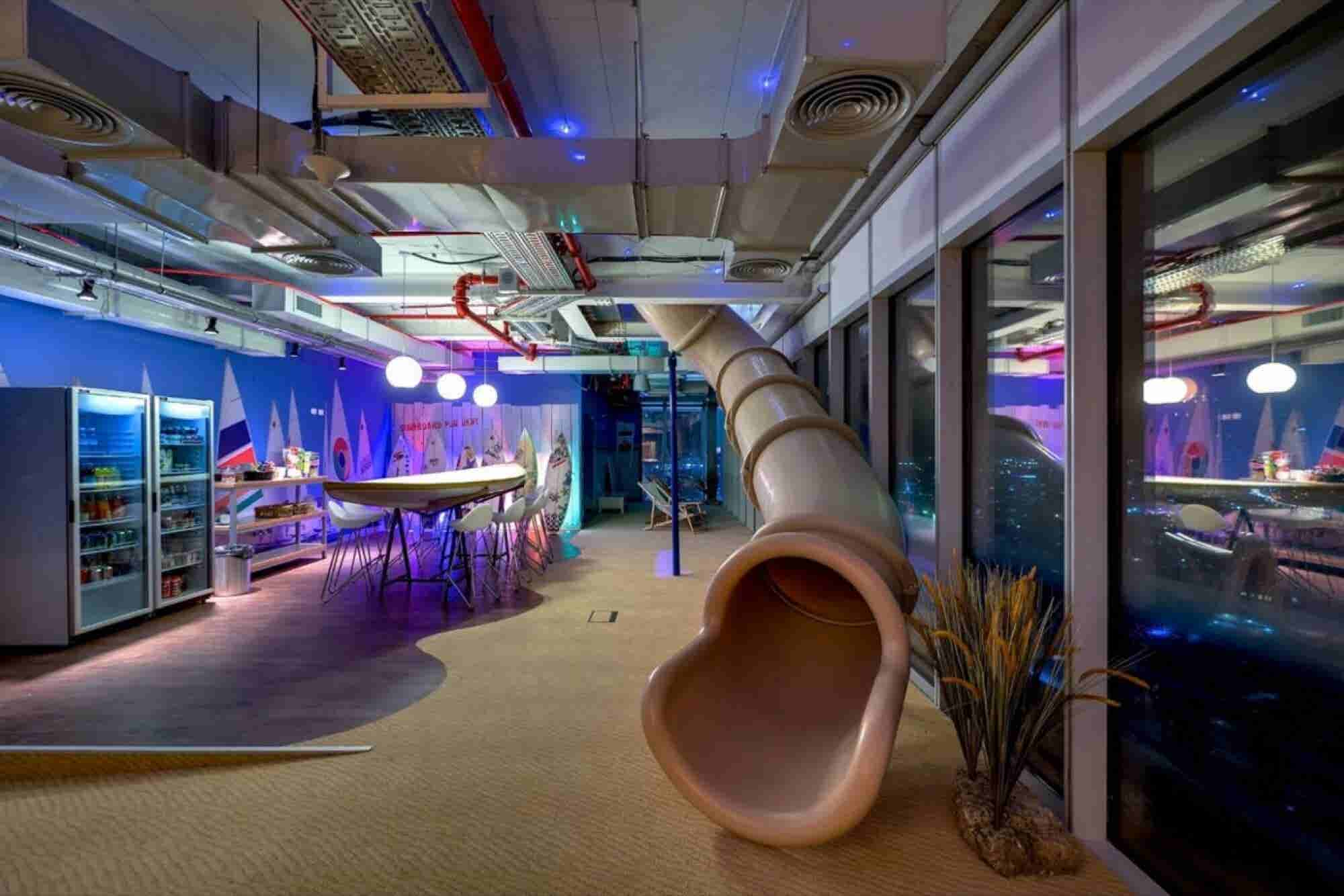 Office Slides? A Draft Beer Bar? Check Out These 6 Innovative (and Fun) Workspaces