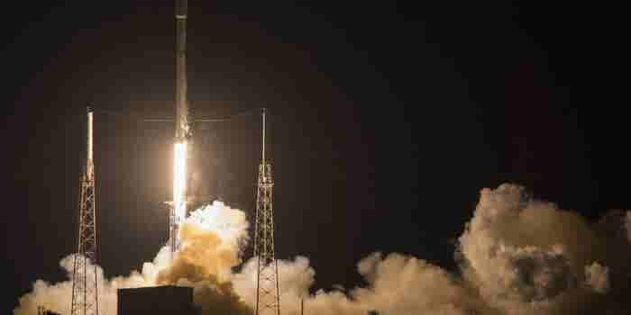 SpaceX Rocket Launches Satellite, Then Lands on Ship at Sea