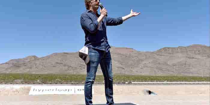 'Hyperloop' Sled Speeds Through U.S. Desert Via Electromagnets