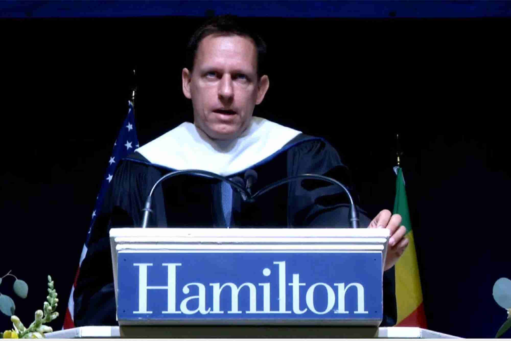 Peter Thiel Commencement Speech, Hamilton College, May 2016 (Transcript)