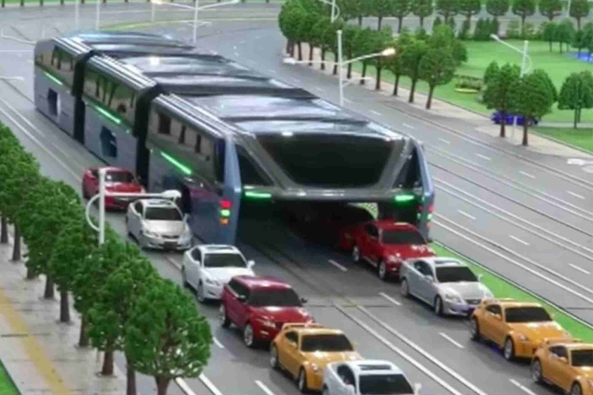 This Car-Swallowing Contraption Is Actually a Futuristic City Bus