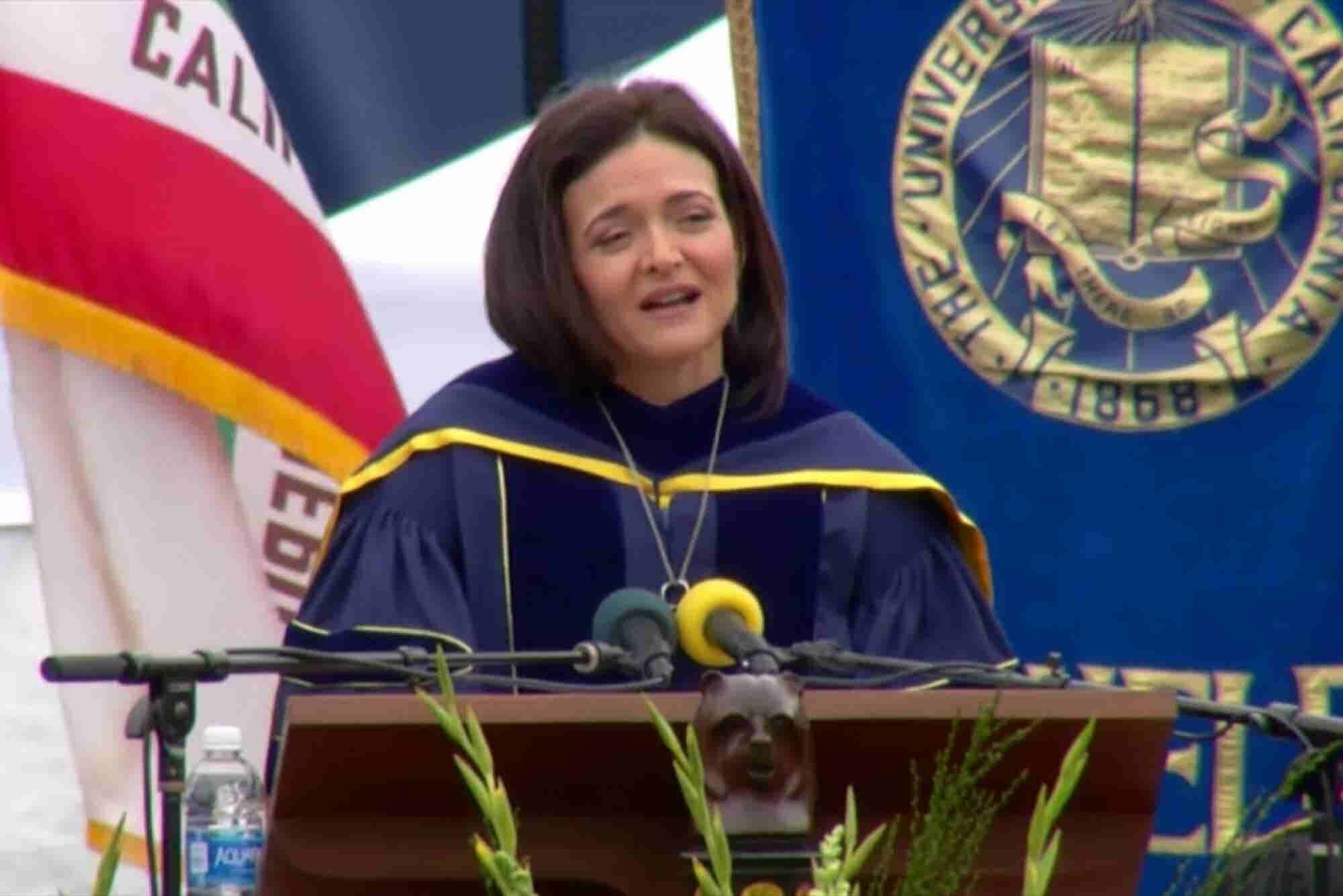 Sheryl Sandberg Commencement Speech, University of California at Berkeley, May 2016 (Transcript)