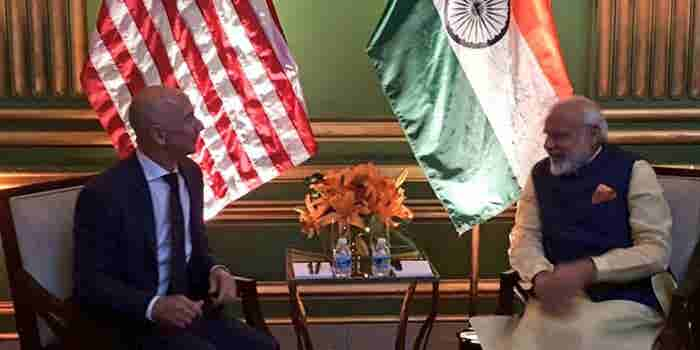 'India Is A Country Of Entrepreneurs,' Amazon's Jeff Bezos Tells Modi