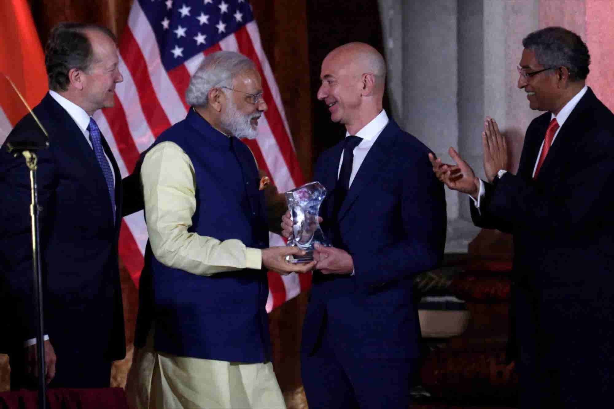 Bezos Says Amazon to Up India Investment to $5 Billion