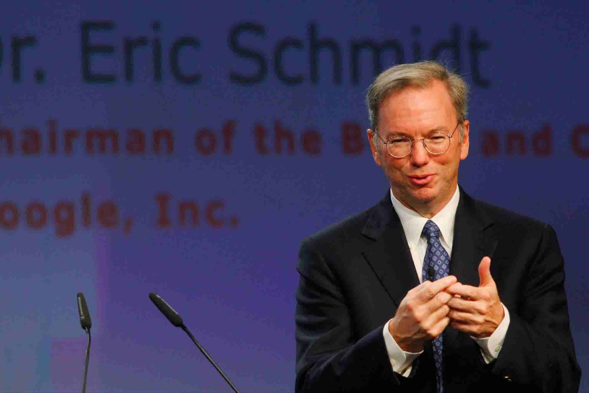 Alphabet's Eric Schmidt: Entrepreneurs Risk It All to Change the World...