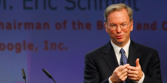 Alphabet's Eric Schmidt: Entrepreneurs Risk It All to Change the World for the Better
