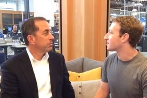 Jerry Seinfeld Grilled Mark Zuckerberg About His Morning Habits and Secretly Broken Arm