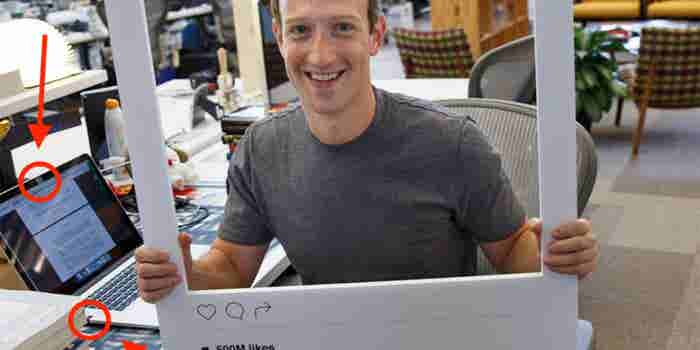 Mark Zuckerberg Uses a Very Low-Tech Solution to Thwart Spies