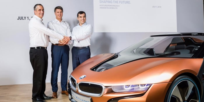 BMW, Mobileye And Intel Team Up To Build Self-Driving Cars