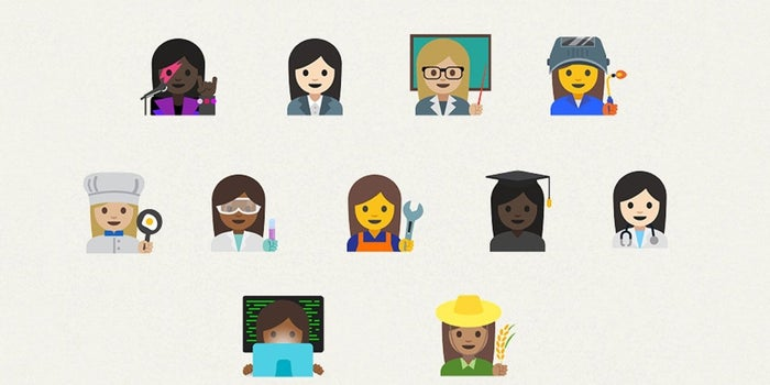 google proposal for professional women emoji accepted