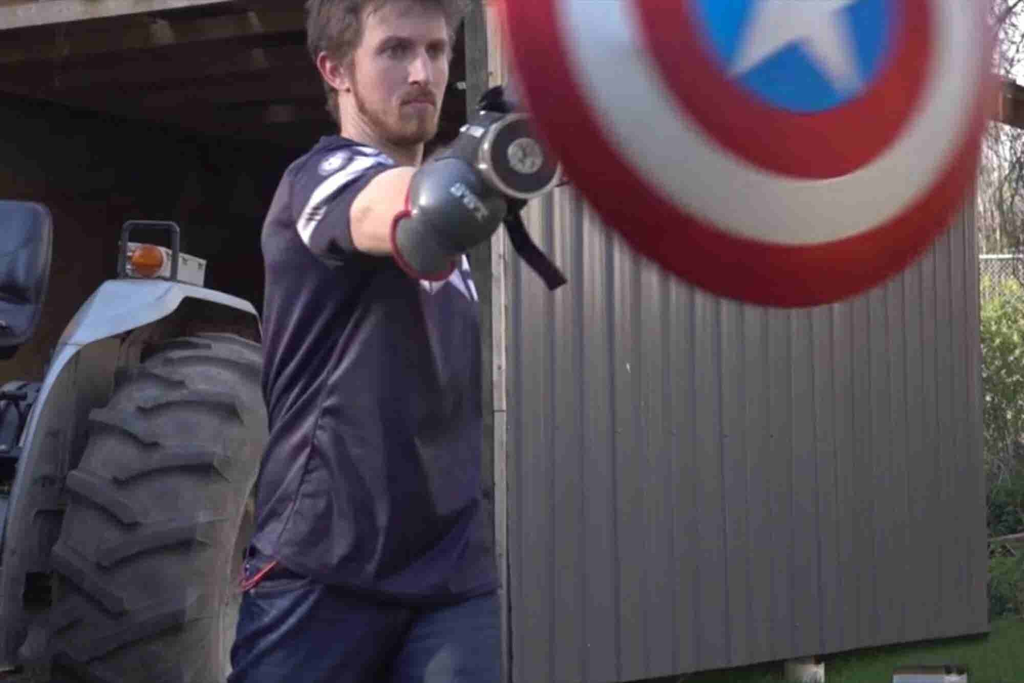 Check Out This Homemade, Real-Life Captain America Shield