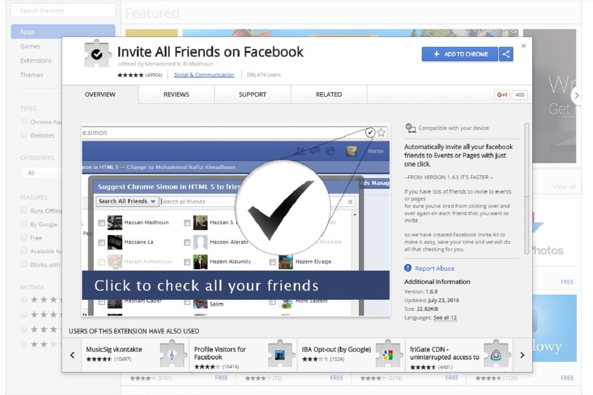 This Extension Let S You Invite All Your Facebook Friends With One Click
