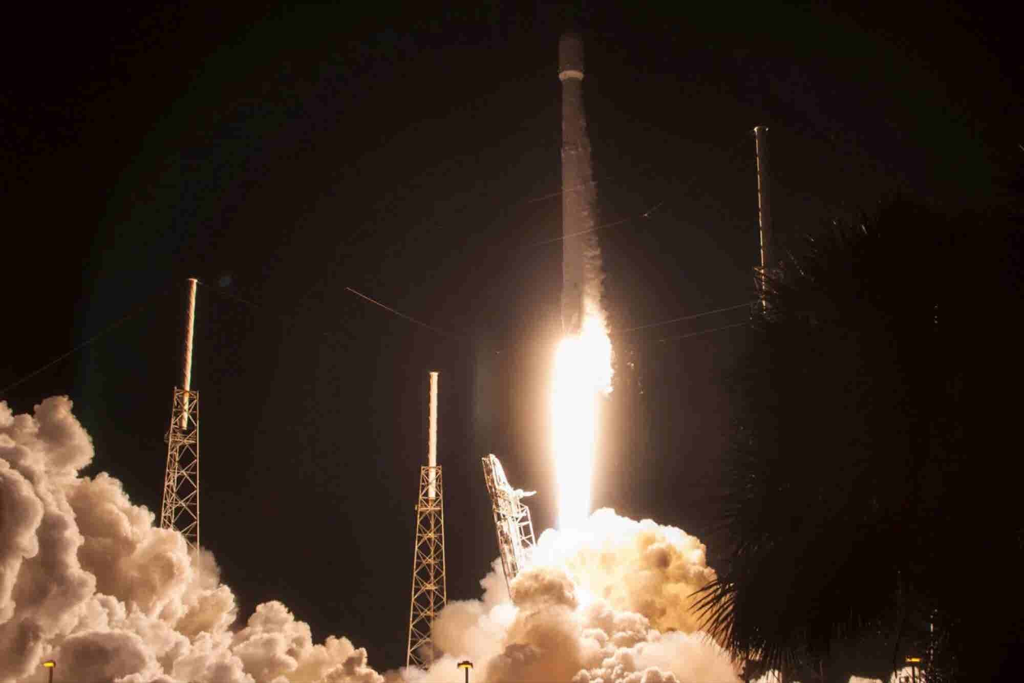 Elon Musk's SpaceX Launches Satellite, Lands Rocket Back on Drone Ship in Ocean