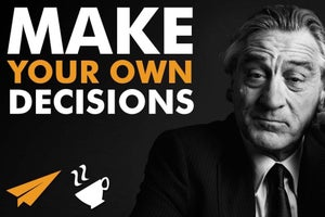 Robert De Niro Wants You to Make Your Own Decisions