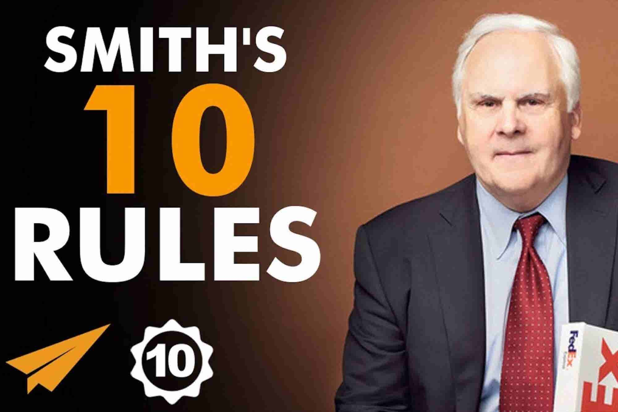 The Founder of FedEx Shares His Top 10 Rules for Success