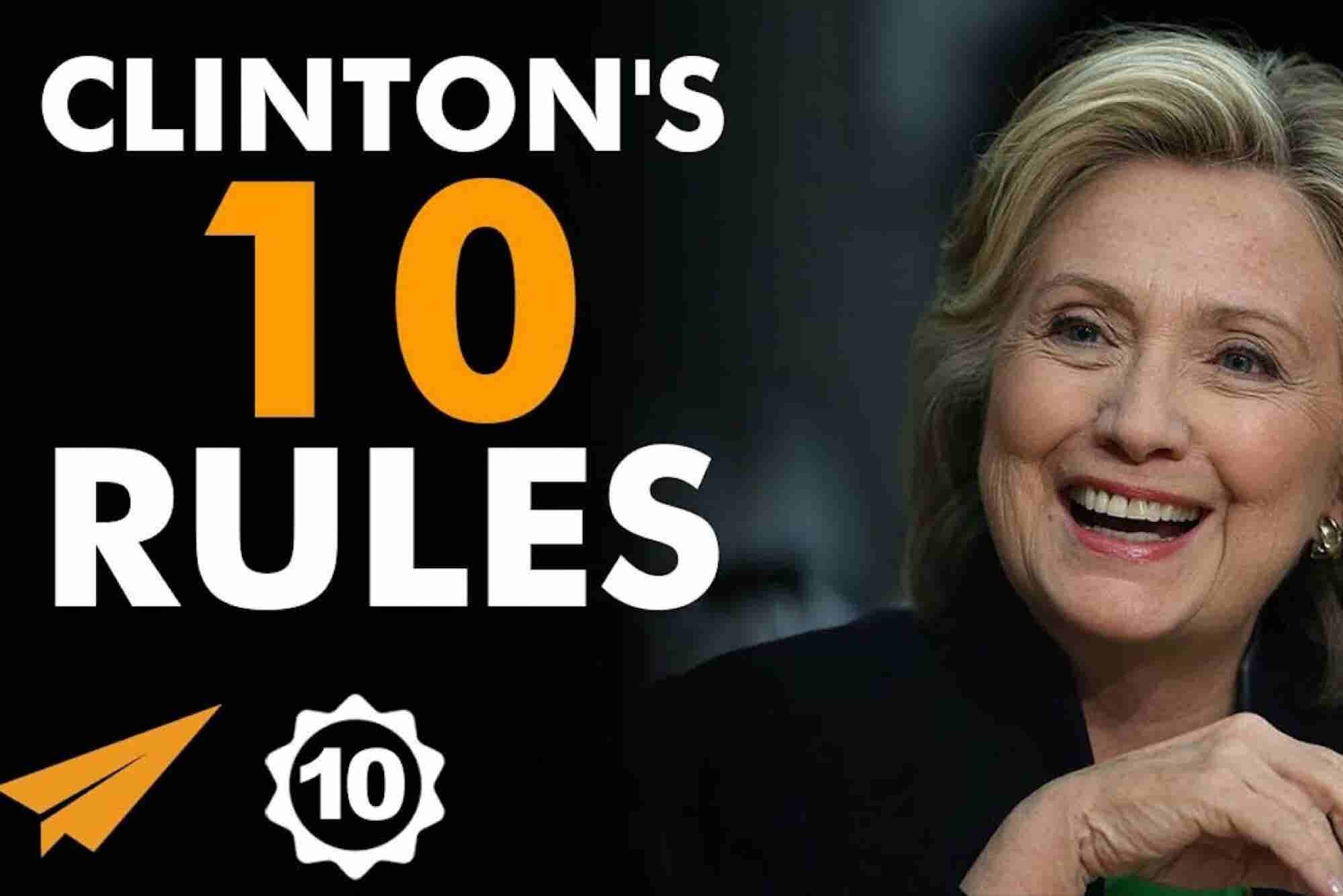 Hillary Clinton's Top 10 Rules for Success
