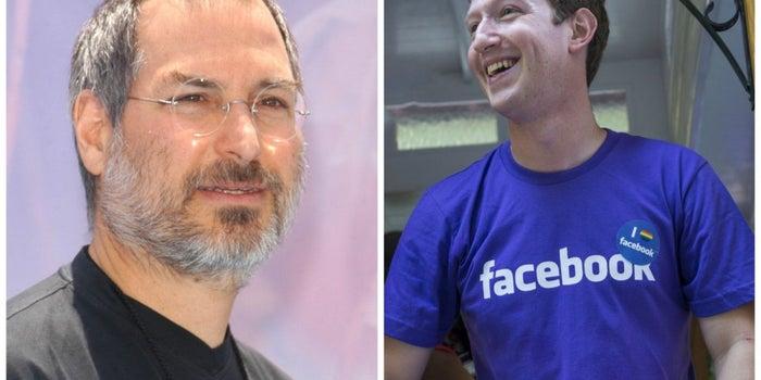 Duelo de líderes: Jobs vs. Zuckerberg