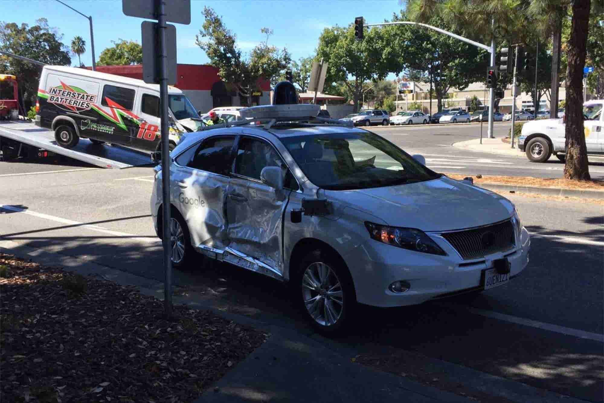 Google Self-Driving Car Involved in Another Crash
