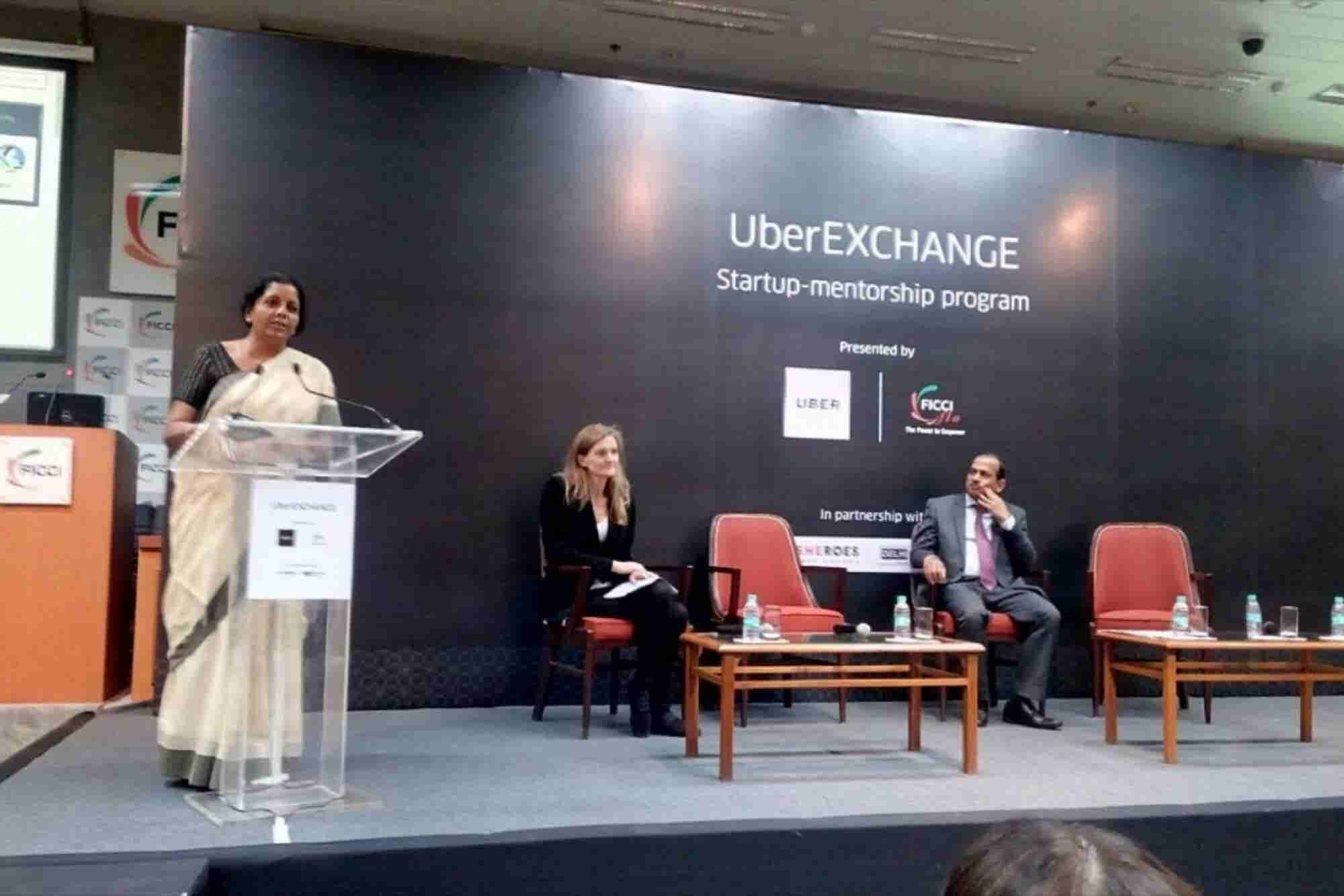 Nirmala Sitharaman Launches UberPITCH 2016 Challenge For Women Entrepreneurs