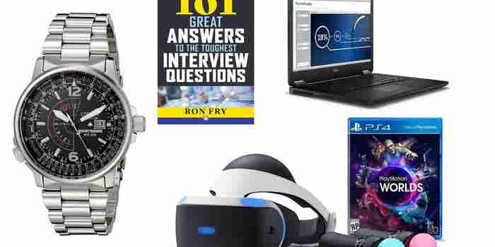 From the PlayStation VR to an Attractive, Stainless Steel Men's Watch, Check Out Today's Best Deals