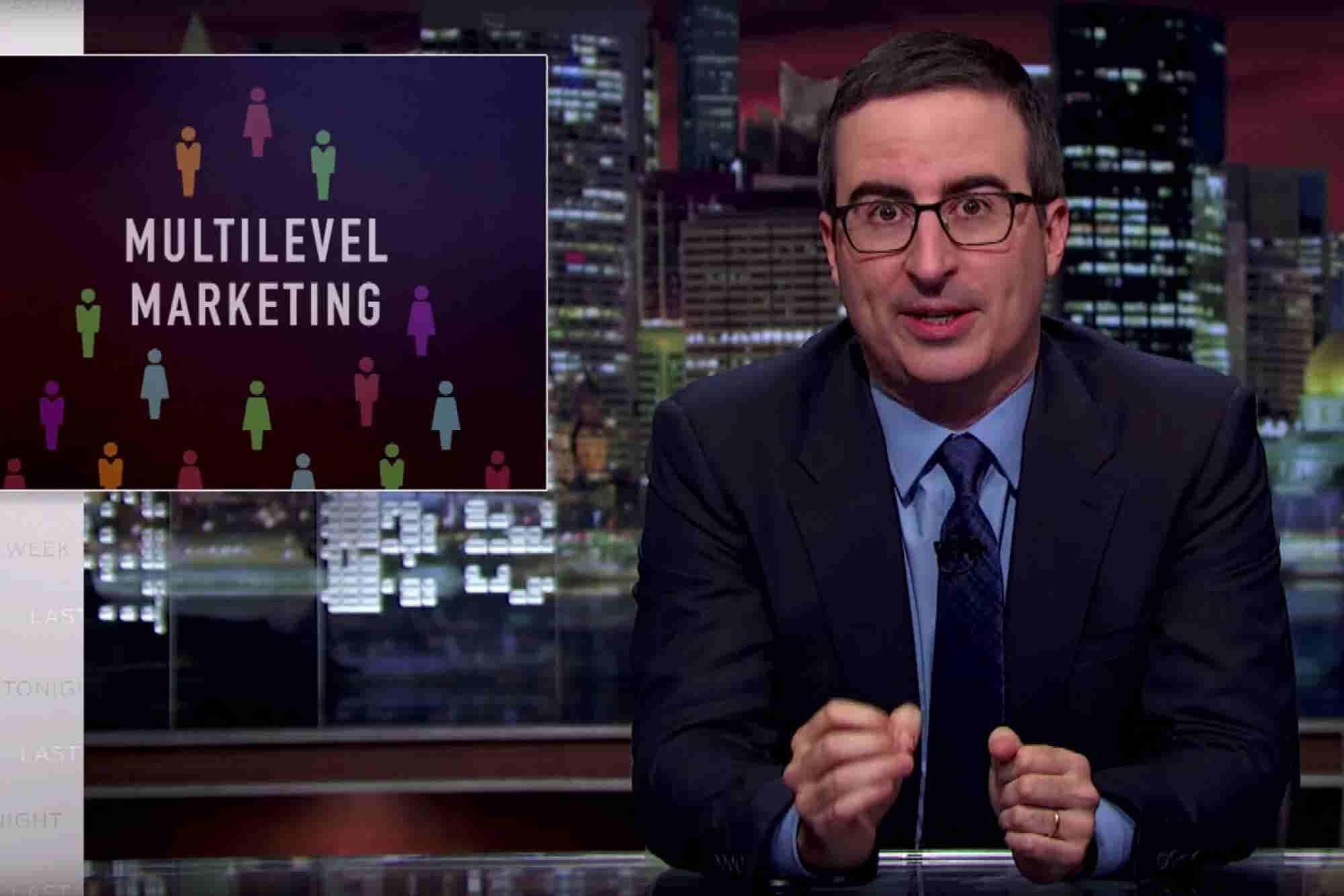 John Oliver: Multilevel Marketing Is Not a Good Path to Entrepreneurship