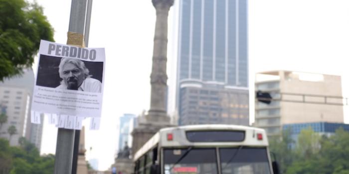 El multimillonario Richard Branson se 'perdió' en la Ciudad de México