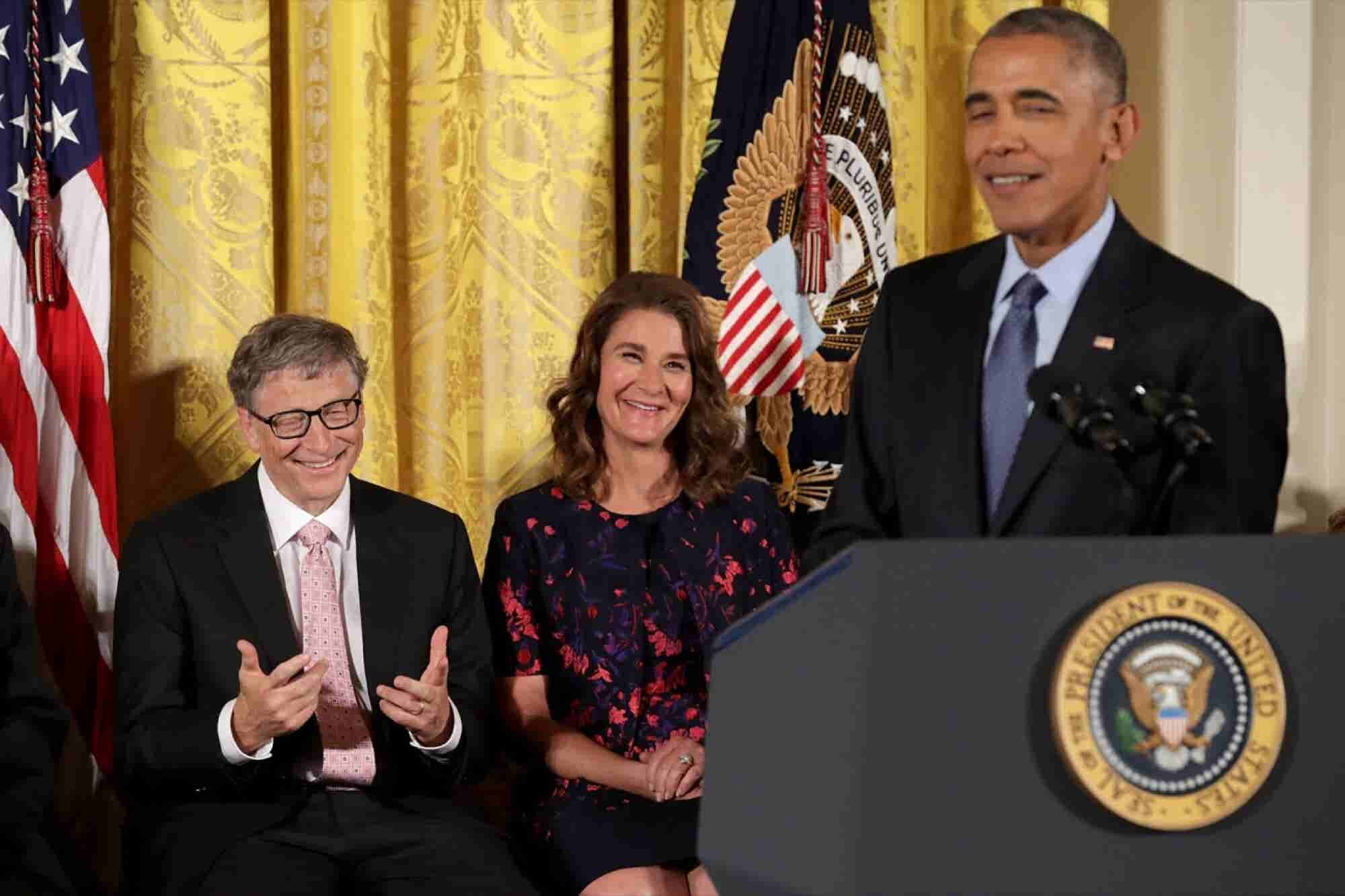 Obama Pokes Fun at Bill Gates as He Awards Him Presidential Medal of Freedom