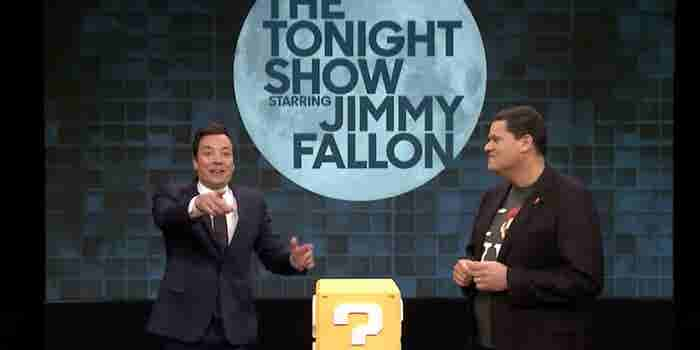Watch Jimmy Fallon Play Super Mario on iPhone