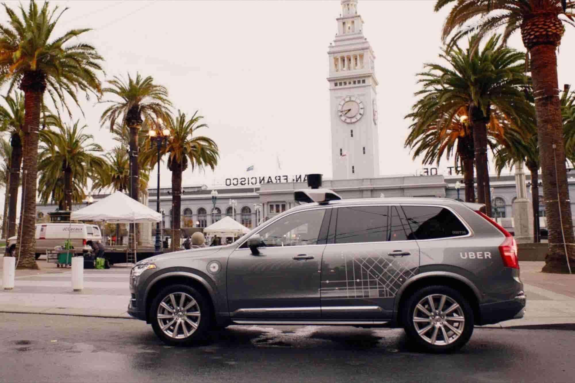 Human Driving Autonomous Uber Car Caught Running Red Light