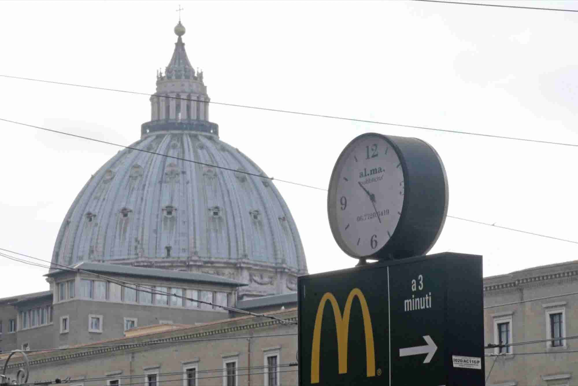 McDonald's Opens Near the Vatican