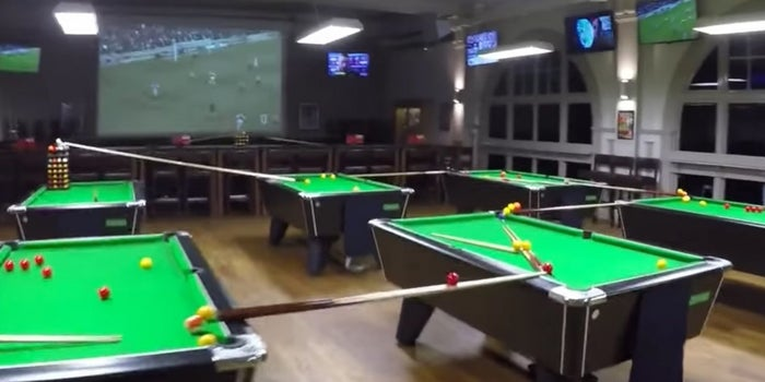 Need Inspiration? This Crazy Billiards-Golf Trick Will Remind You Anything Is Possible.