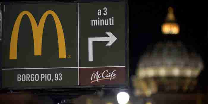 McDonald's to Donate Meals to the Homeless in Vatican City