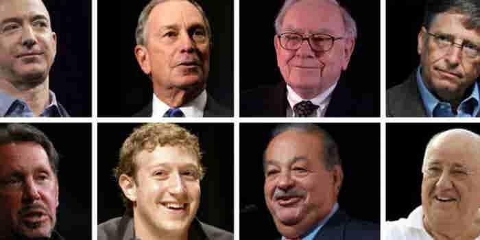 Los 8 millonarios que concentran la riqueza mundial
