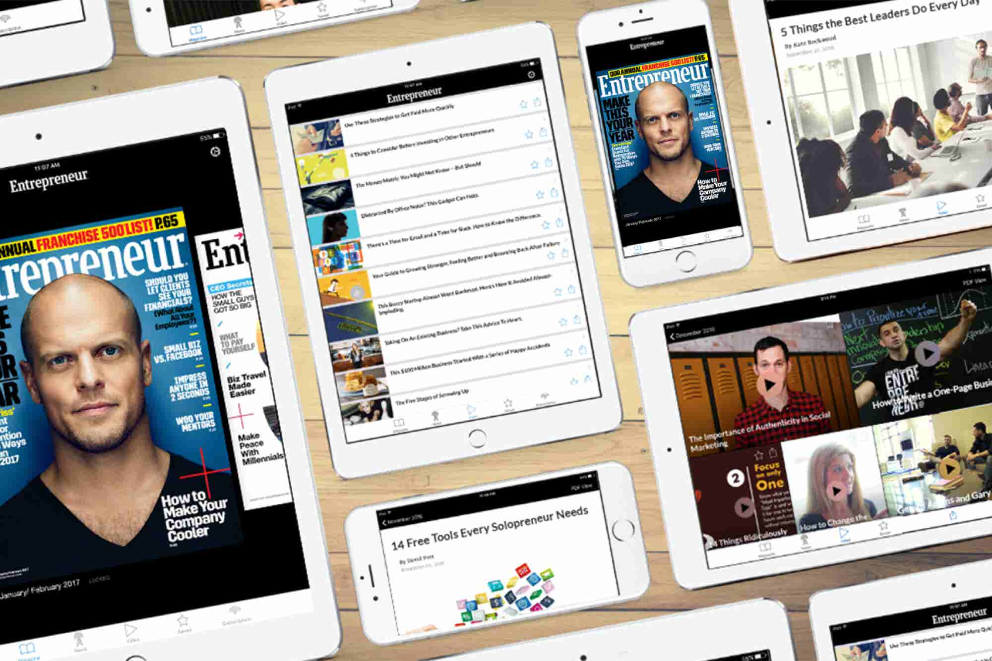 Download Entrepreneur Magazine's App for Apple and Android