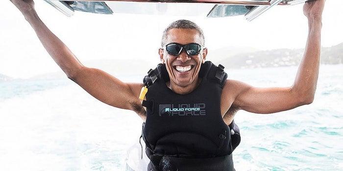 Free of the Presidency, Barack Obama Has a Blast With Richard Branson