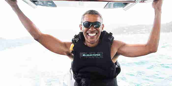 Free of the Presidency, Barack Obama Has a Blast With Richard Branson
