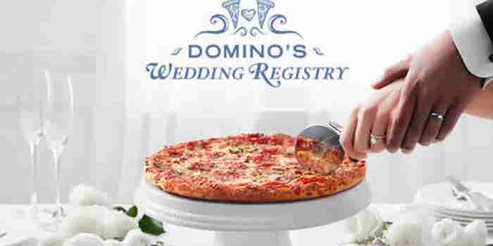 Domino's Now Has a Wedding Registry, Because You Know, People Love Pizza?