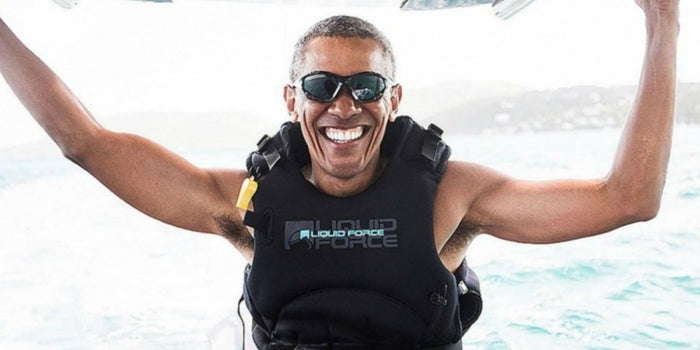 Así se divierte Barack Obama con Richard Branson